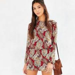 Lucca Urban Outfitters Silky Open Back Romper S